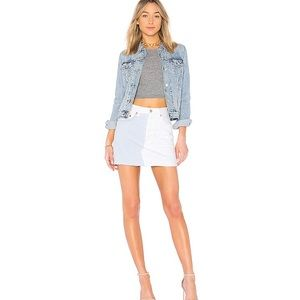 Revolve | Levi's Halfsies Denim Mini Skirt 24